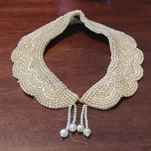 Beaded authentic vintage collar or necklace